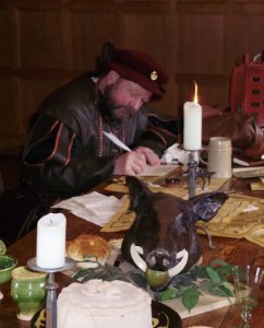 Can't write without my roasted boar...